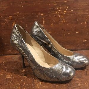 Jeffrey Campbell Silver Leather Heels